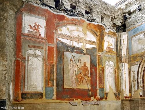 The Augustus College or Collegio degli Augustali. Herculaneum, Italy.